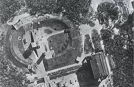 23 June 1943 RAF reconnaissance photo of V-2s at Test Stand VII Peenemunde-165515.jpg
