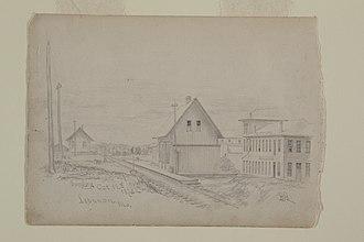 Lebanon, Missouri - Lebanon Train Depot in 1873