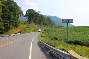 Lower Augusta Township, Northumberland County, Pennsylvania - Pennsylvania Route 147 in Lower Augusta Township, with Little Mountain in the background