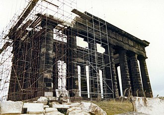 Penshaw Monument - Penshaw Monument During the underpinning circa 1979
