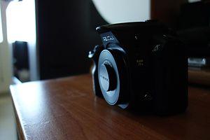 Pentax K-30 - Image: Pentax K 30 with a SMC Pentax DA 40mm f 2.8 XS lens (angle)