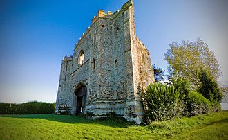 Pentney - The remains of the gatehouse at the old Augustinian Priory in Pentney