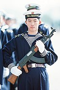 People's Liberation Army Navy sailor with type 56 assault rifle
