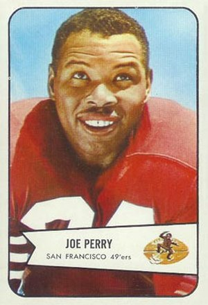 Joe Perry (American football) - Image: Perry 1954 Bowman