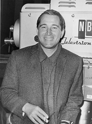 RCA TK-40/41 - NBC's 1950s star Perry Como poses with TK-41 camera