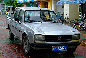 Guangzhou Peugeot Automobile Company - A locally developed crew cab version of the Peugeot 504 pickup
