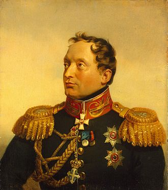 Philip Osipovich Paulucci - An oil portrait of Paulucci by George Dawe, 1825. It is now in the Military Gallery of the Winter Palace, Hermitage Museum.