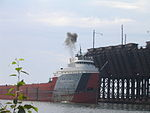Phillip R. Clarke entering ore dock.jpg