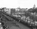Photograph of the 28th Infantry Division Leading the Color Guard at the Colmar Victory Parade - NARA - 6927617.jpg