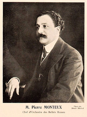 Pierre Monteux - Monteux during his conductorship of Les Ballets Russes, c. 1912