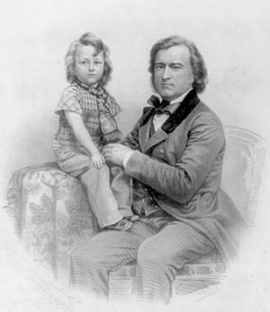 Pierre Soulé - Pierre Soulé with son