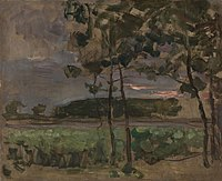 Piet Mondriaan - Field with young trees in the foreground - A584 - Piet Mondrian, catalogue raisonné - color.jpg