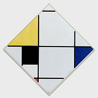 Piet Mondrian - Lozenge Composition with Yellow, Black, Blue, Red, and Gray - 1957.307 - Art Institute of Chicago.jpg