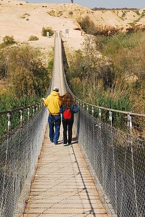 HaBesor Stream - A bridge across HaBesor Stream, Western Negev.