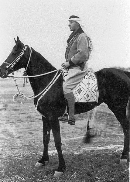 פאוזי קאוקג'י רכוב על סוס