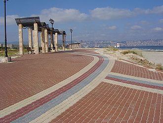 Kiryat Yam - The promenade near the beach at Kiryat Yam