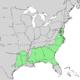 Pinus taeda distribution map.png