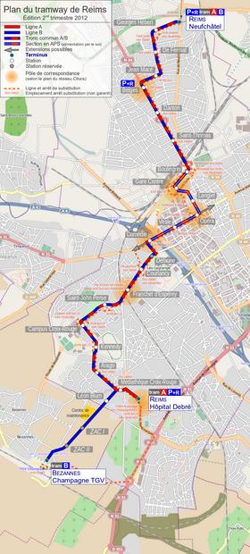Tramway de reims wikip dia - Carte de visite reims ...