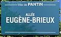Plaque Allée Eugène Brieux - Pantin (FR93) - 2021-04-27 - 1.jpg