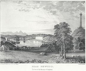 Plas Newydd: the seat of the Marquis of Anglesey. From near the column