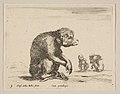 Plate 3- seated monkey, from 'Various animals' (Diversi animali) MET DP817858.jpg