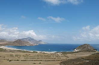 Cabo de Gata-Níjar Natural Park - Playa de los Genoveses is the second most popular beach and within walking distance of the pueblo of San José