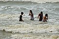 Playful People with Sea Waves - Mandarmani - Dadanpatrabarh - East Midnapore 2015-05-02 8997.JPG