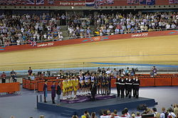 Podium Cycling at the 2012 Summer Olympics – Men's team pursuit.JPG