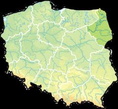 województwo podlaskie na mapie Polski