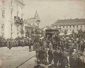 Sokrates Starynkiewicz - Funeral of Sokrates Starynkiewicz in Warsaw on 26 August 1902