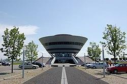 """""""Porsche Diamond"""" The customer center building of Porsche Leipzig."""
