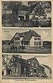 Porschweiten, Ostpreußen - Altes Laubenhaus; Schule; Gasthaus Goertz (Zeno Ansichtskarten).jpg