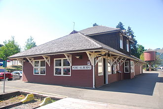 Southern Railway of Vancouver Island - Port Alberni Station is today only used by the heritage Alberni Pacific Railway