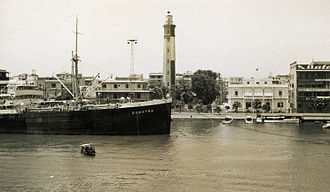 Port Said Lighthouse - The lighthouse of Port Said in the 1930s
