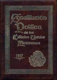Portada Original de la Constitucion Mexicana de 1917.png