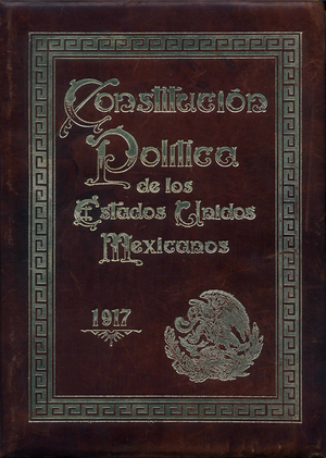 Constitution of Mexico - Cover of the original copy of the Constitution