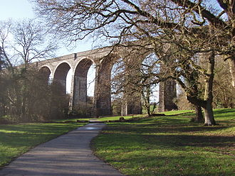 Barry, Vale of Glamorgan - The viaduct at Porthkerry Park was once crossed many times daily by rail transporting coal down from the Welsh valleys north of Bridgend