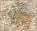 Post- und Eisenbahn-Karte von Deutschland, den Niederlanden, Belgien und der Schweiz LOC 2018588038.jpg