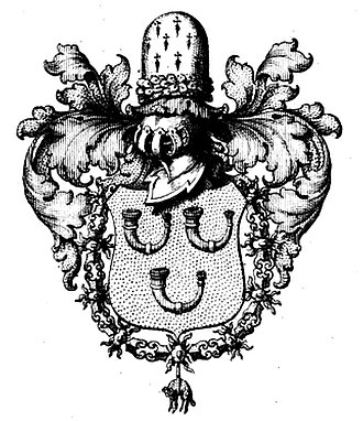 House of Hornes - Coat of arms of Maximilian Emanuel, 3rd Prince of Hornes