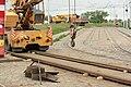 Praha, Řepy, Sídliště Řepy, rekonstrukce tramvajové konečné, odstranění kolejí.JPG