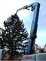 Praha, Staré Město, Staroměstské náměstí, instalace vánočního stromu 2010 V.jpg