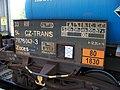 Praha-Holešovice, cisternový vagón Zaces, Transportservis, označení.jpg