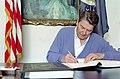 President Ronald Reagan signing United States - Canada Free Trade Agreement.jpg