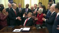 File:President Trump participates in a signing ceremony for S. 756 and H.R. 6964.webm