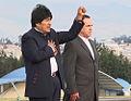 Presidente boliviano, Evo Morales visita a Gobierno Nacional. Canciller Patiño recibe en base aérea (5078811725).jpg