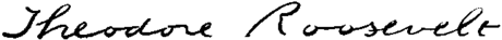 Presidents Roosevelt Theodore signature.png