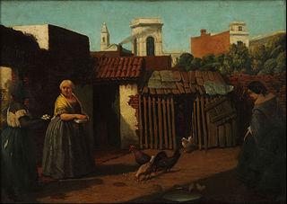 Patio porteño en 1850