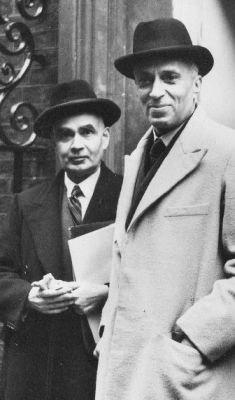 Prime Minister Jawaharlal Nehru with Girja Shankar Bajpai
