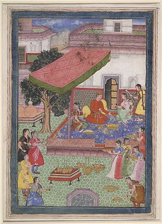Zenana - Prince or noble visiting the zenana or women's quarters