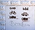 Pro-bicycle graffiti in Eugene (3684758855).jpg